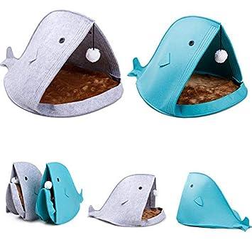 Cama de fieltro con forma de tiburón para perro, portátil, con alfombrilla y pelota de piel: Amazon.es: Bricolaje y herramientas