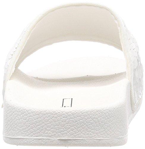 Ella white Esprit Femme Mules Sequins Blanc Rddq1wz