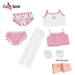 This amazing underwear set has everything your doll needs to accessorize. Six great pieces to add to her doll closet! Included in this value pack are 2 sets of mix and match underwear, one in a pretty solid pink color and the other sporting a...