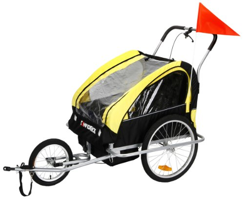 2In1 Double Baby Bicycle Bike Trailer And Stroller - 1
