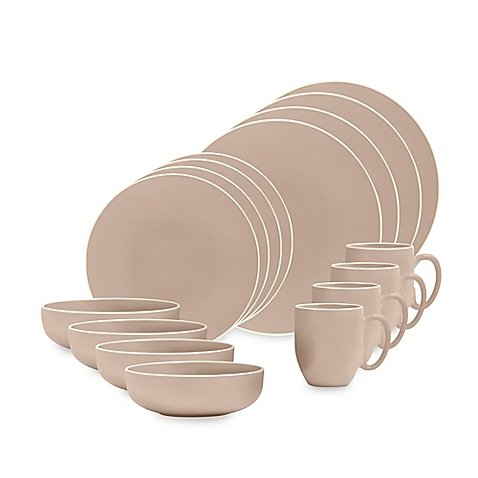 Vera Colors 16-Piece Dinnerware Set in Taupe by Vera Wang Wedgwood