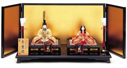 【雛人形】真多呂作 木目込み雛人形 伝統的工芸品 春慶雛   B006HIQSLE