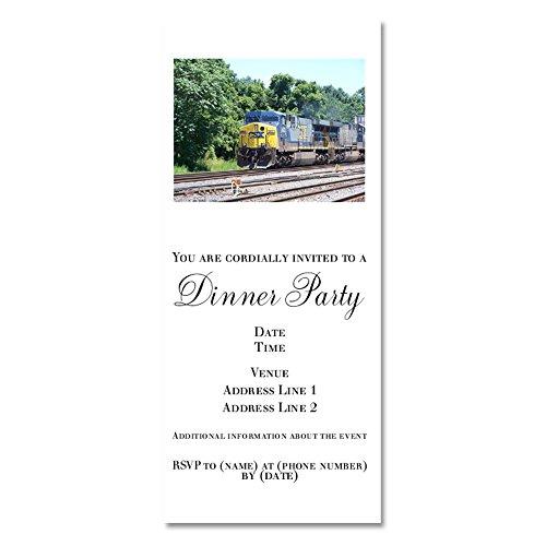 Doublestack Train - Invitations Glossy ()