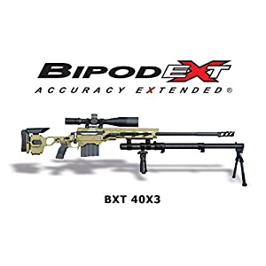 BipodeXt BXT 40X3 | Stability Platform | Accuracy Extended | Bipod Extender | Bipod Extension | Bipod Accessory | Rifle Accessory | Best Long Range Bipod