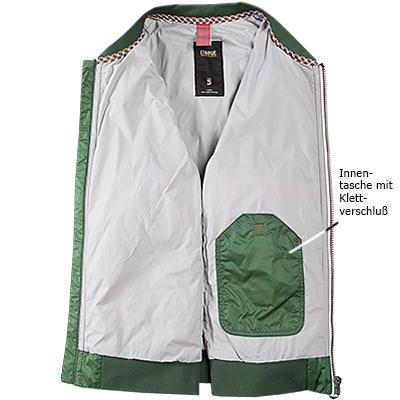 CINQUE Herren Jacke Jack Mikrofaser modisches Langarmoberteil Unifarben, Größe: 48, Farbe: Grün