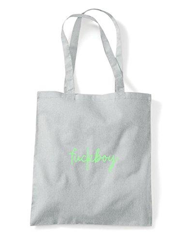 Tote Grey Statement Hashtag Shopper Bag Light Quote Fuckboy TZUwRq