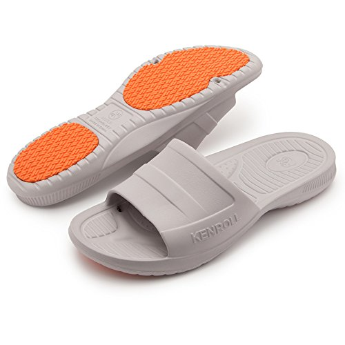 Slip Grey KENROLL Shoes Soft Beach for Men Sandals Kids Flop Slippers Pool Slide Women and and Flip Non Shower Unisex 44wqntIHr1
