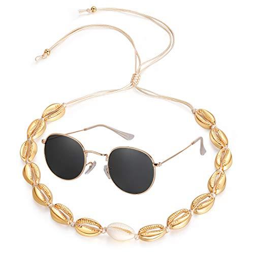 Metal Necklace Choker - Lateefah Shell Necklace Choker for Women Natural Cowrie Seashell Choker Shell Pendant Cord Bib Collar Necklace Hawaiian Jewelry