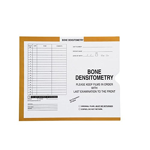 Bone Densitometry, Yellow/Green #381 - Category Insert Jackets, System I, Open End - 10-1/2'' x 12-1/2'' (Carton of 250)