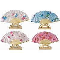 Assortment of one dozen (12) Oriental Feng Shui Hand Fan-LADYS FAN