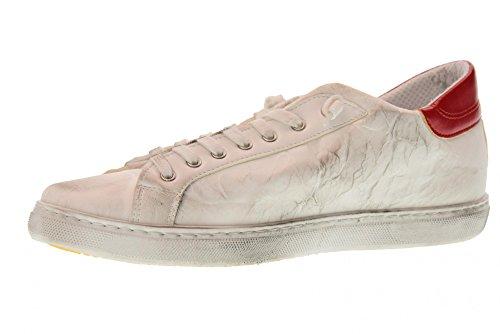 2 STAR Scarpe Uomo Sneakers Basse 2SU 1801 Bianco/Rosso Bianco-rosso