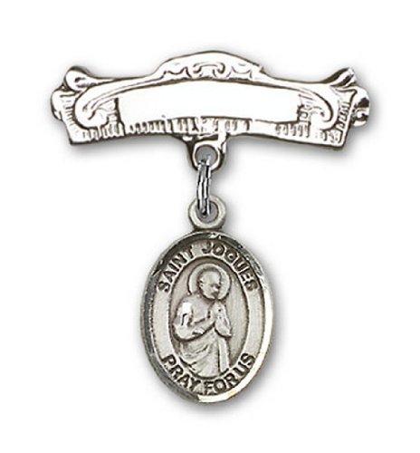Icecarats Créatrice De Bijoux En Argent Sterling St. Isaac Jogues Charme Broches Badge Arc 7/8 X 7/8