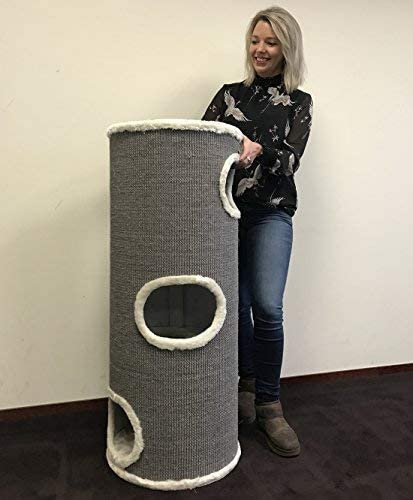 Barril de rasguño Coony lounge Beige rascador para gatos grandes baratos arbol xxl maine coon gato adultos gigante sisal muebles sofa escalador torre Árboles rascadores: Amazon.es: Productos para mascotas