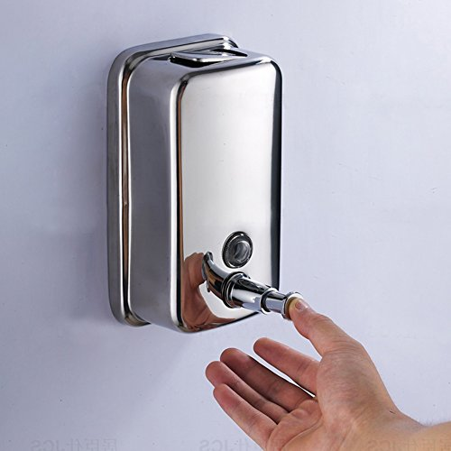 Geek4lesses bathroom wall mounted stainless steel manual - Wall mounted bathroom soap dispenser ...