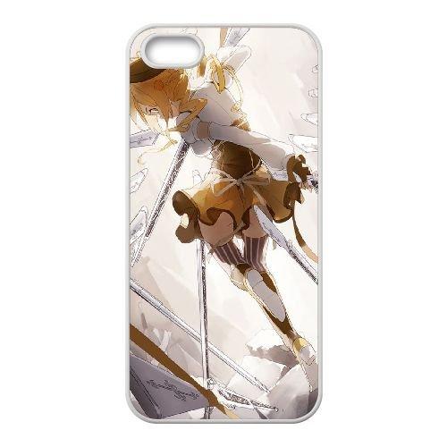 S5N18 Tomoe Mami D6X5LA coque iPhone 5 5s cellule de cas de téléphone couvercle coque blanche RZ3AIJ7JU