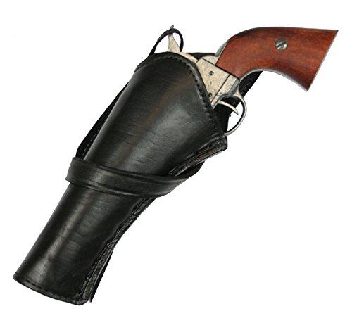(Historical Emporium Men's Left Hand Plain Leather Western Cross Draw Holster Black)