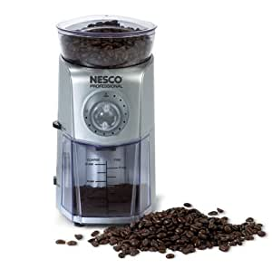 Nesco BG-88 Professional 12-Cup Burr Grinder with 17 Grind Settings