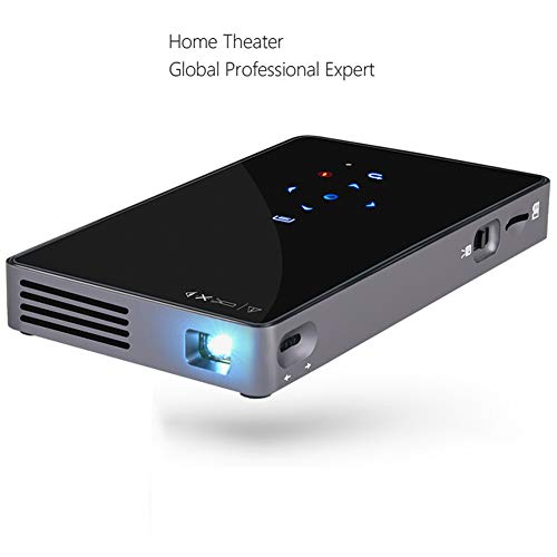 Mini Projector P8I, Android 4.4 WiFi 2.4G & 5.8G Dual Band, Bluetooth, Portable LED Projector, 3D Beamer for 1080P Home Cinema