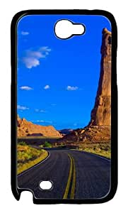 Samsung Galaxy Note 2 Case and Cover -Bixby Bridge California PC case Cover for Samsung Galaxy Note 2 / Note II / N7100 ¿C Black
