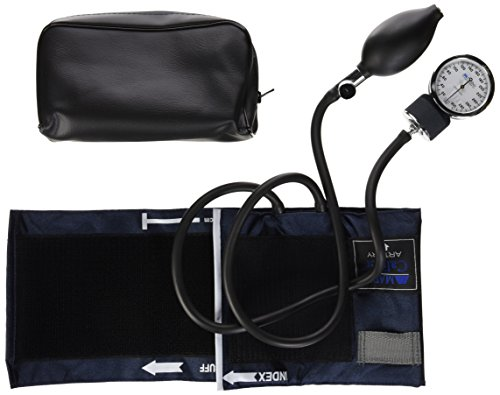 Mabis Caliber Series Aneroid Sphygmomanometer Manual Blood Pressure Monitor, Cuff Size 11 to 16.4 Inches, Adult
