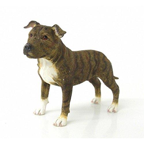 Gainsborough Gifts Staffordshire Bull Terrier Dog Figurine (6 Inch) (Dark Brown)