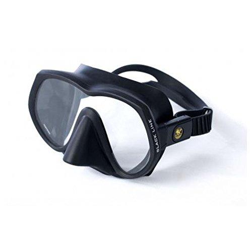 - Poseidon Blackline Mask Ultra Low Volume Single Lens Scuba Diving Dive Frameless Mask Matte Black