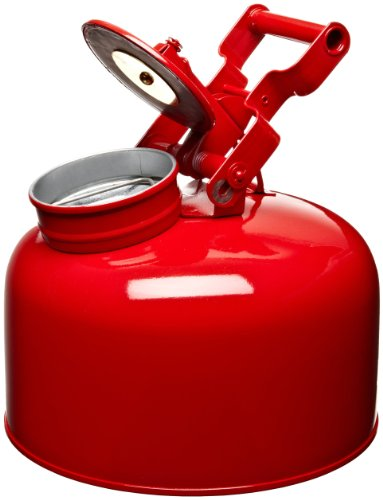 Eagle 1423 Disposal Galvanized Steel Safety Can, 2-1/2 Gallon Capacity, Red by Eagle