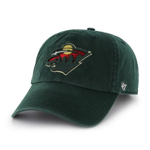 (NHL Minnesota Wild Clean Up Cap, One Size, Dark Green)