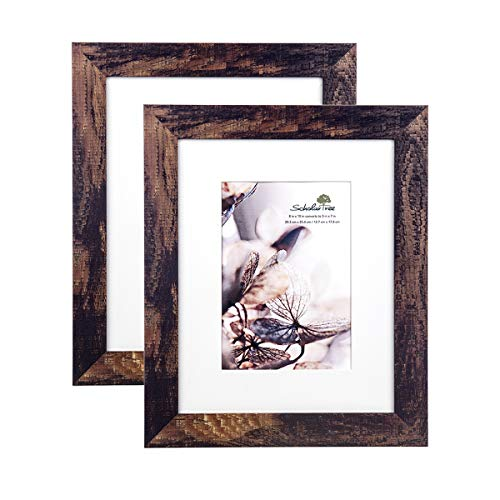 Scholar tree Wooden Picture Frame Photo Frames 5 x 7 inches, 8 x 10 inches, 11 x 14 inches (Brown, 8 x 10 inches)]()