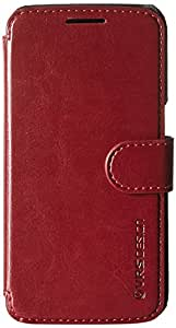 Galaxy S7 Case, VRS Design [Layered Dandy][Wine Red] - [Premium Leather Wallet][Slim Fit][Card Slot] For Samsung S7
