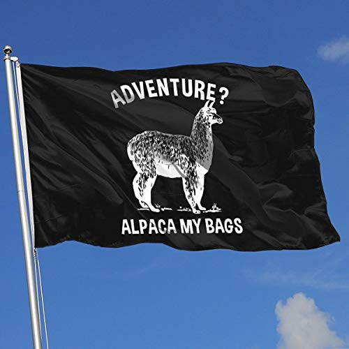 (Sisa Adventure Alpaca My Bags 3x5 Foot Flags Outdoor Flags 100% Single-Layer Translucent Polyester 3x5 Ft)