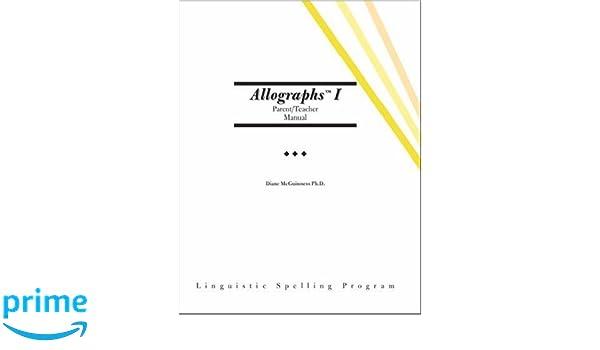 Amazon.com: Allographs™ I Parent/Teacher Manual: Linguistic ...