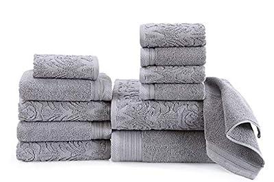 Wicker Park 600 GSM Ultra Soft 100% Cotton Towel Set (White), Long-Staple Cotton, Spa Hotel Quality, Super Absorbent, Machine Washable