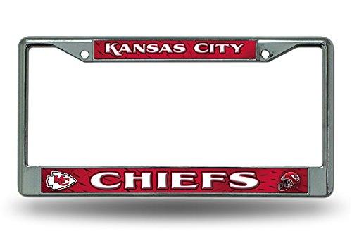 Rico Kansas City Chiefs NFL Chrome Metal License Plate Frame by Rico