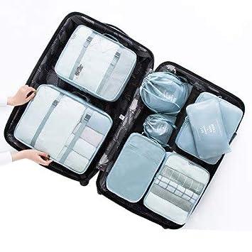 74d24881f647 Amazon.com : Saasiiyo 8 pcs/set Portable Polyester Travel Packing ...