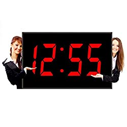 Big Time Clocks 15-Inch Numeral LED Wall Digital Clock with Remote Control, Large