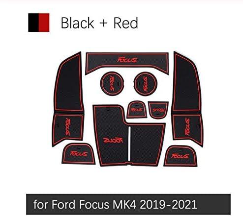 Linfei Anti Rutsch Gate Slot Mat Gummiuntersetzer Für Ford Focus 4 Mk4 Focus 2019 Zubehör Autoaufkleber Focus Iv Auto