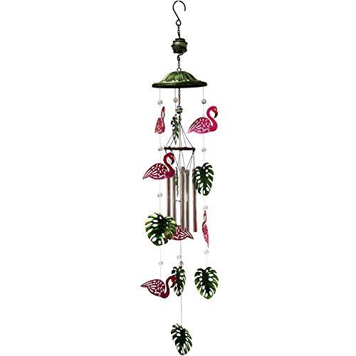 Every Growing Metal Flamingo Glass Beads Windchime Wind Chimes Outdoor Anima WindChimes Red Bird Deterrent Garden Outdoor Decor Yard Decorations Patio (Flamingo)