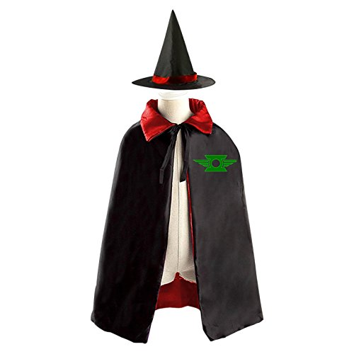 John Stewart Green Lantern Costume (Green Lantern Kids Halloween Witch Cape Cloak Wizard Cap Hat Sets Red)