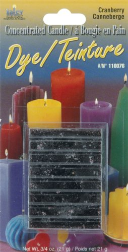 Yaley 110000D-76 Concentrated Candle Dye Blocks, 0.75 oz, Cranberry