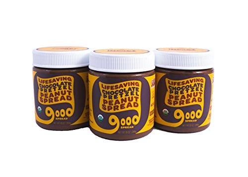 Good Spread Organic Chocolate Pretzel Peanut Butter - USDA Certified Organic, Non-GMO, 10 oz. Jar (3 Pack)