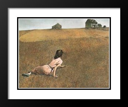 Andrew Wyeth Framed and Double Matted Art Print 25x29 ''Christina's World'' by ArtDirect
