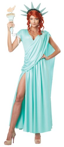 California Costumes Women's Lady Liberty Adult, Mint Green, -