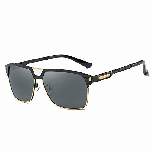 Pesca GUOHONG CX con Gafas UV Piernas Sol Gold De Gafas De Grey Gafas Ojos De Hombres Conducción De Ocasionales Protección Black Moda Los Gafas Primavera Ciclismo De Sol Polarizadas grey Vendados Clásico rzxwdrBq0