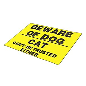 WYD-A Beware Personalised Door Mats Blank One size Dog