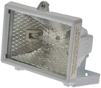 120 W spritzwassergesch/ützt IP44 Smartwares ES120 Halogenstrahler mit 110/° Bewegungsmelder 2250/Lumen