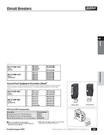 murray mpgf amp pole volt ground fault circuit murray mp260gf 60 amp 2 pole 240 volt ground fault circuit interrupter