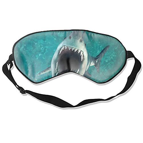 Sleep Mask Tiger Shark Comfort Deep Eye Masks Best Lightweight Night Eyeshade Blinder Travel Airplane Tiger Shark