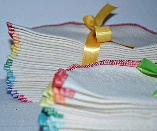 1 Ply Organic Birdseye Washable Baby Wipes 8x8 Inches Set of 10 DARK GREY