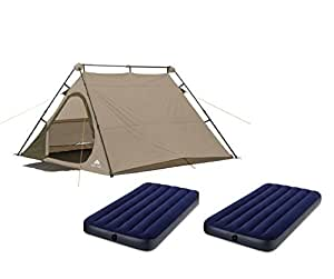 Ozark Trail Family Cabin Tent (Biege, 4 Person with Airbed)